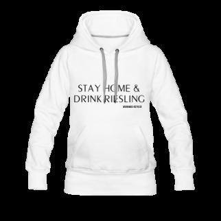 Frauen Hoodie Stay Home & Drink Riesling